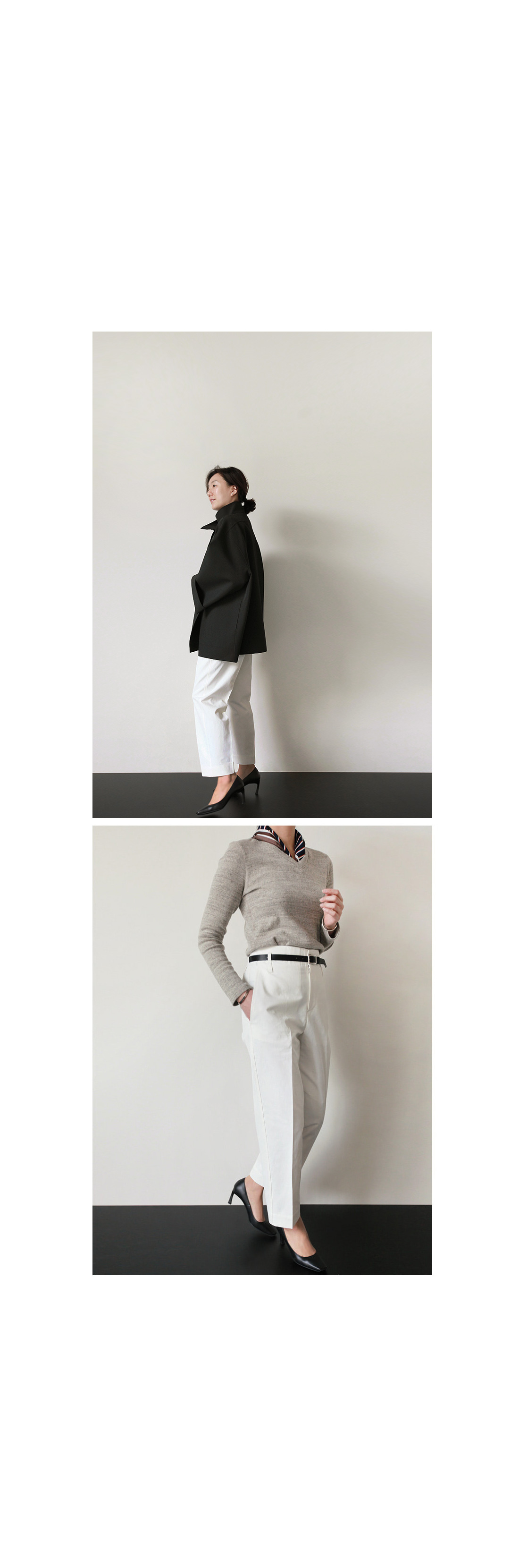 Belted High Rise Pants|