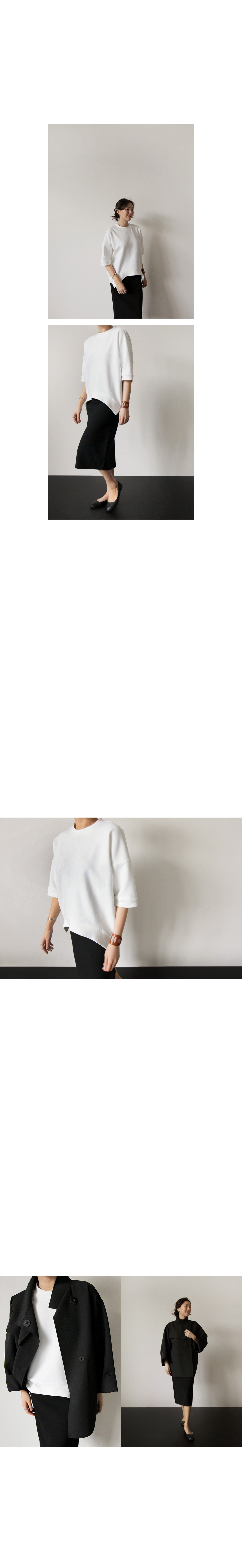 Curved Hem Oversized T-Shirt|