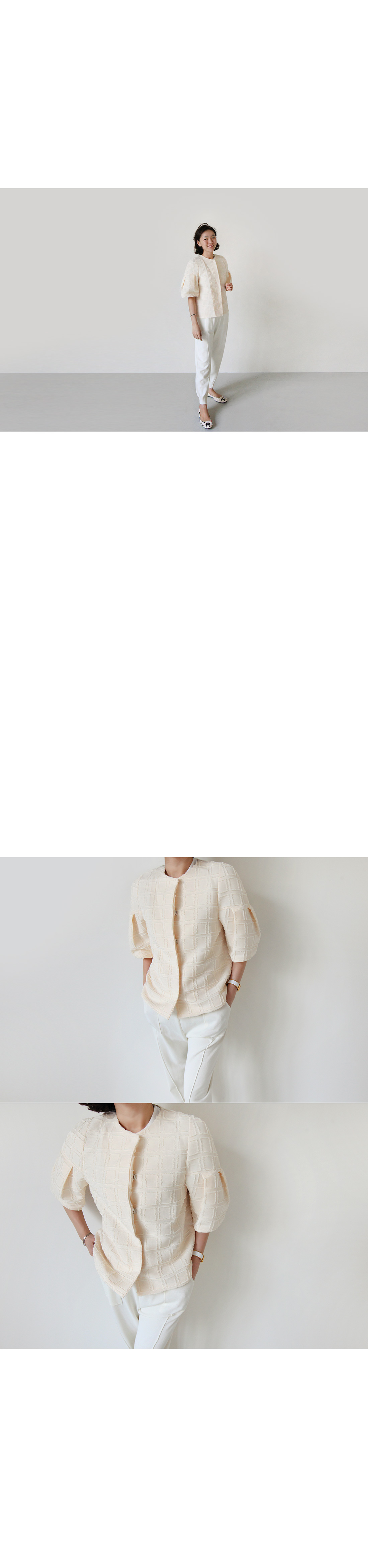 Puffed Half Sleeve Jacket|