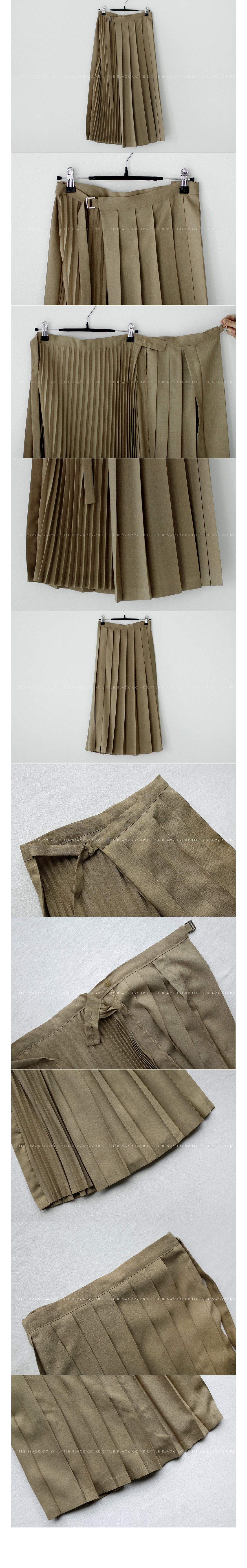 Assorted Pleat Wrap Skirt|