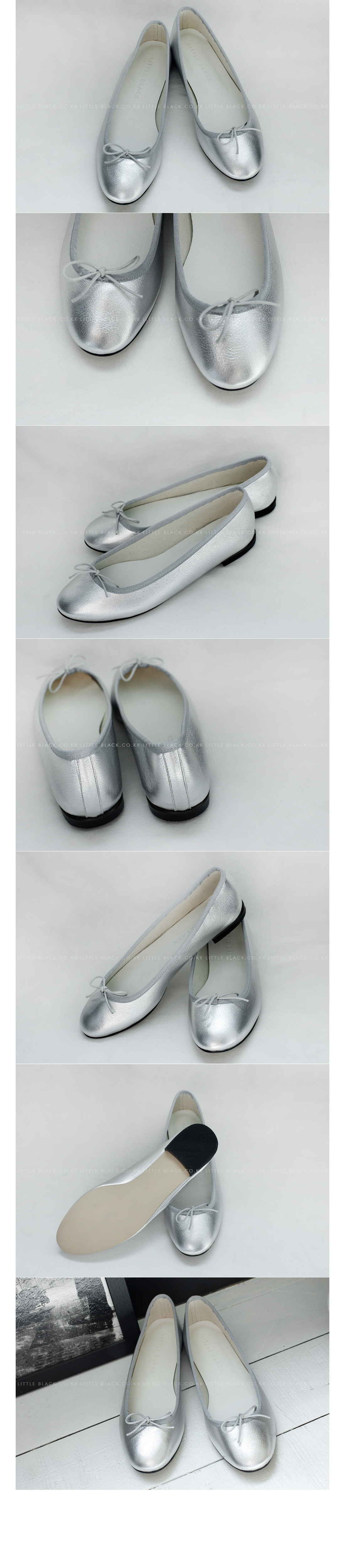 Metallic Bow Front Flats|