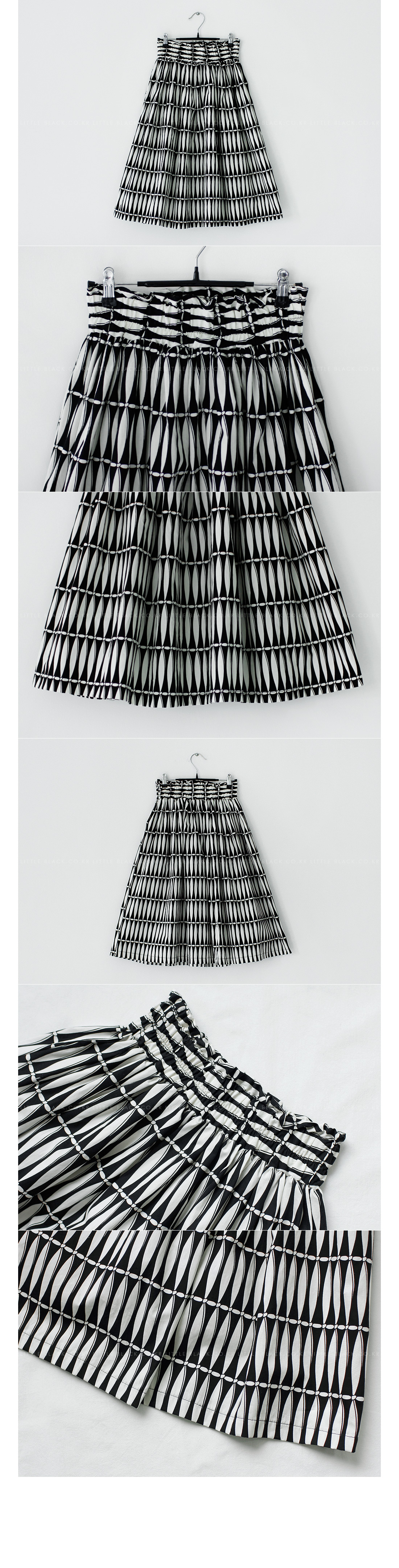 Patterned A-Line Midi Skirt|