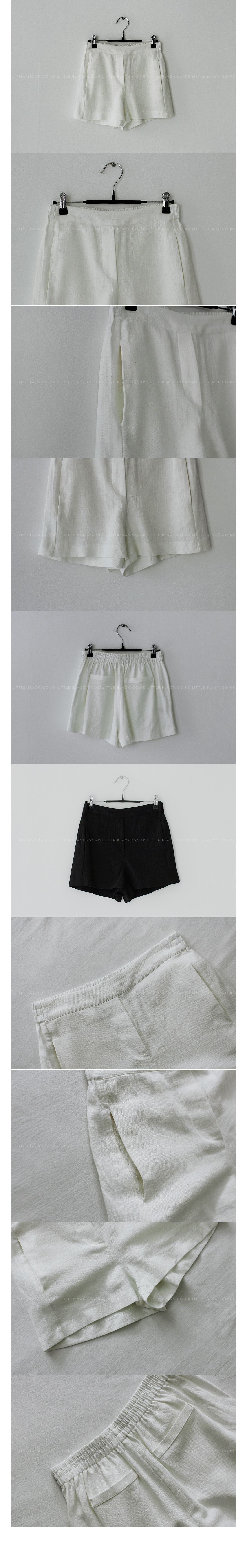 Linen Blend Pull-On Shorts|