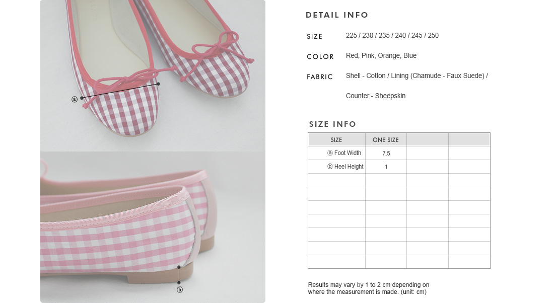 Bow Front Gingham Flats|