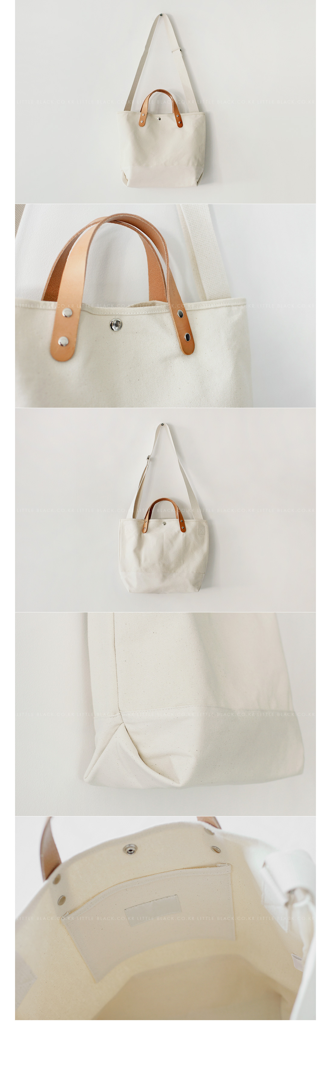 Contrast Handle Canvas Tote Bag|