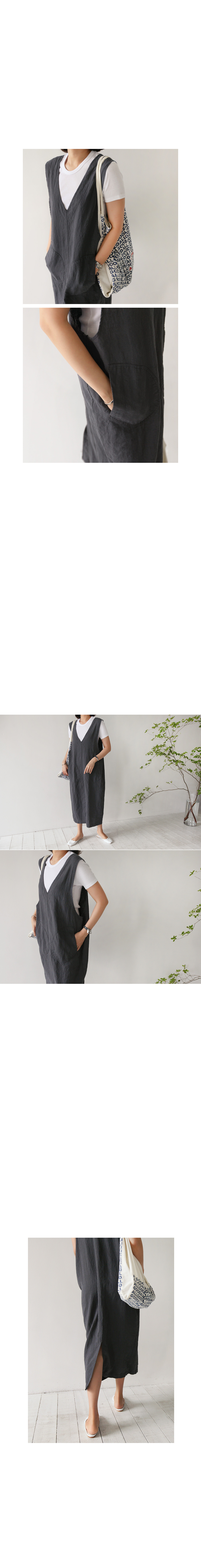 Wide Armhole V-Neck Dress|