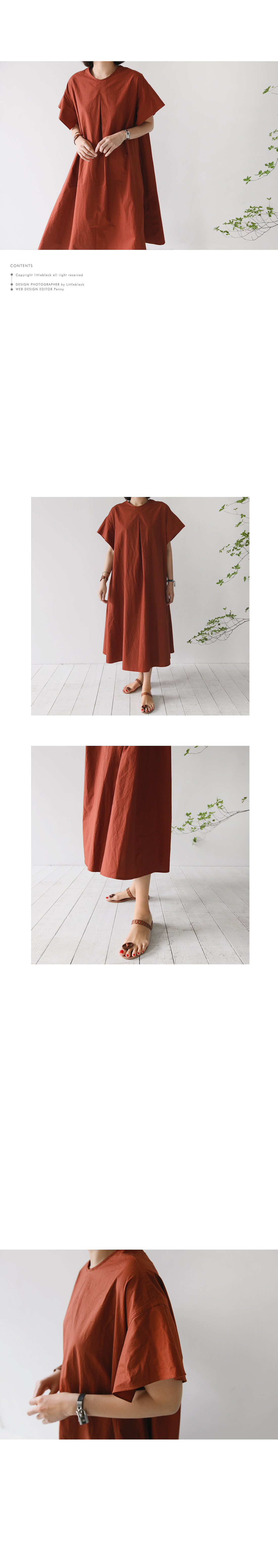 Back Button Closure Oversized Dress|