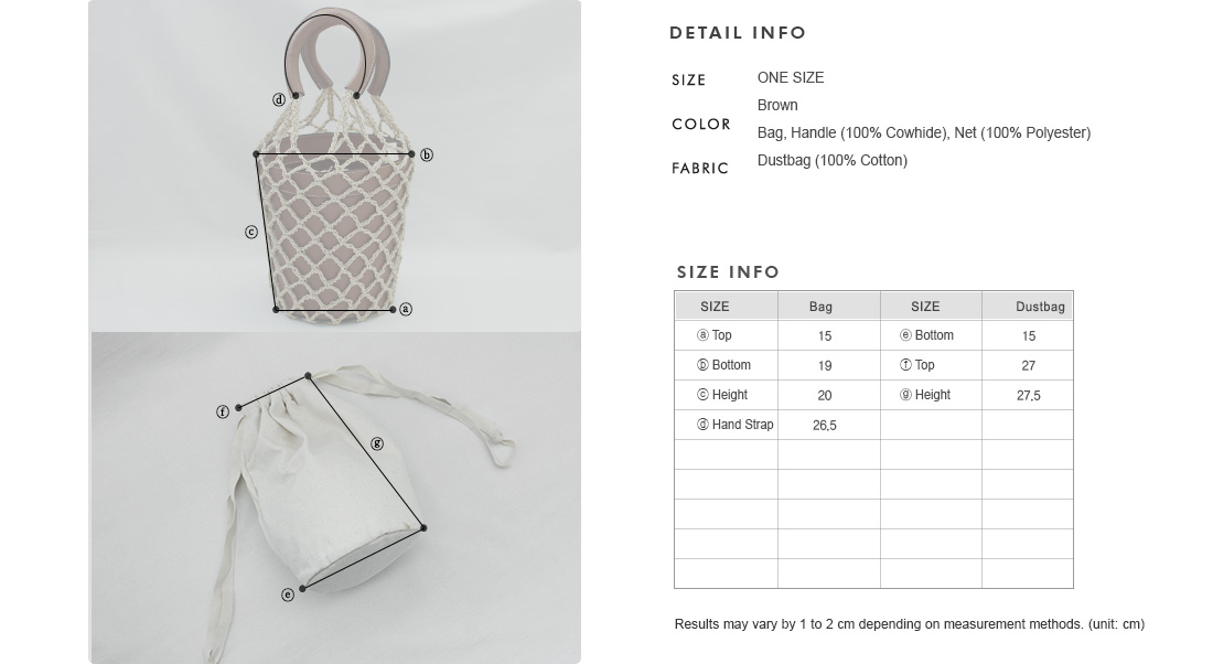 Net Overlay Bucket Bag|