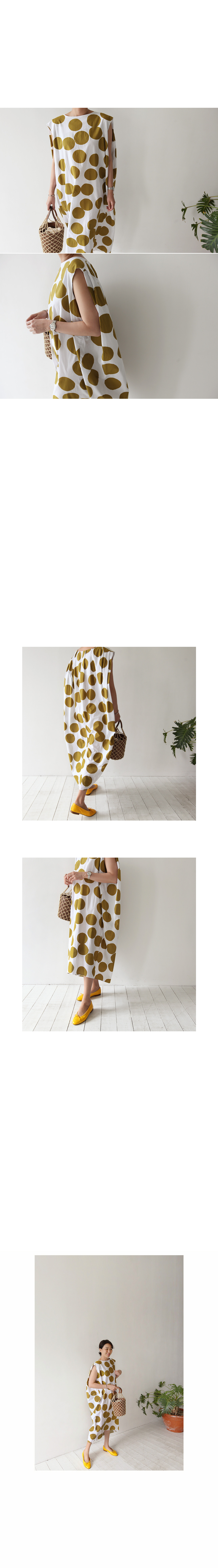 Oversized Dot Sleeveless Dress|