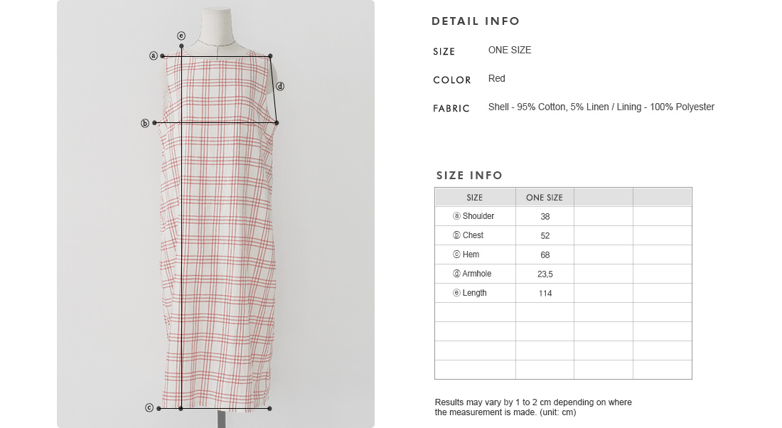 Sleeveless Check Dress|