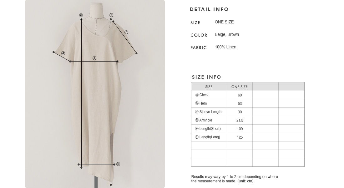 Asymmetric Linen Shift Dress|