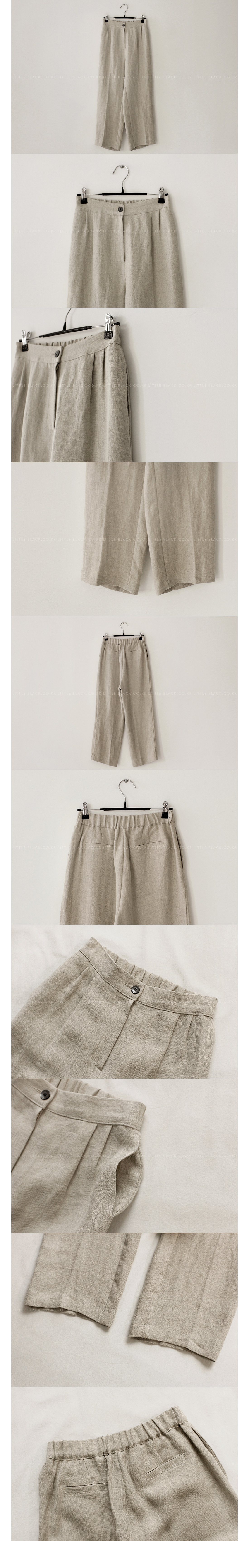 Herringbone Linen Slacks|