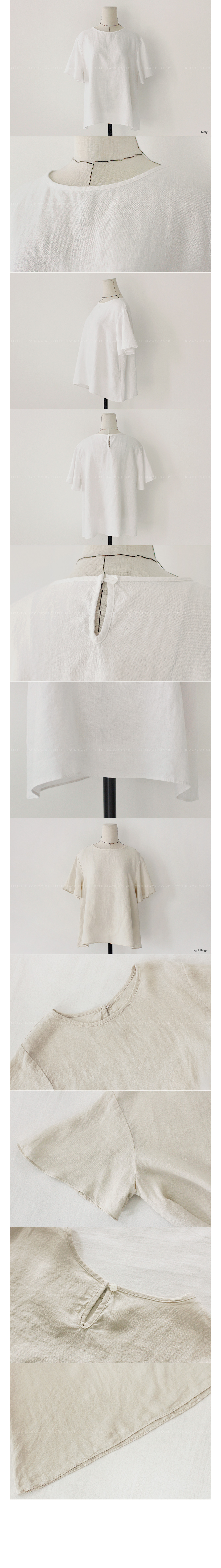 Butterfly Sleeve Linen Top|
