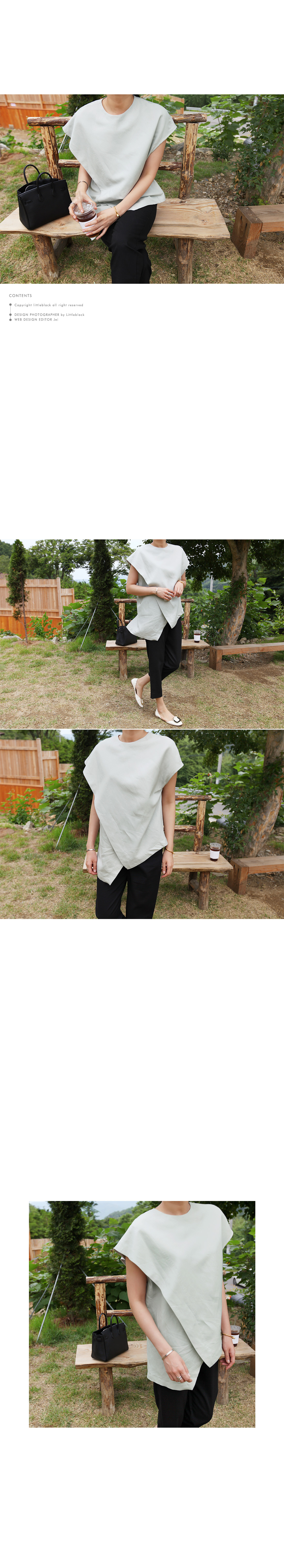 Asymmetric Layered Top|