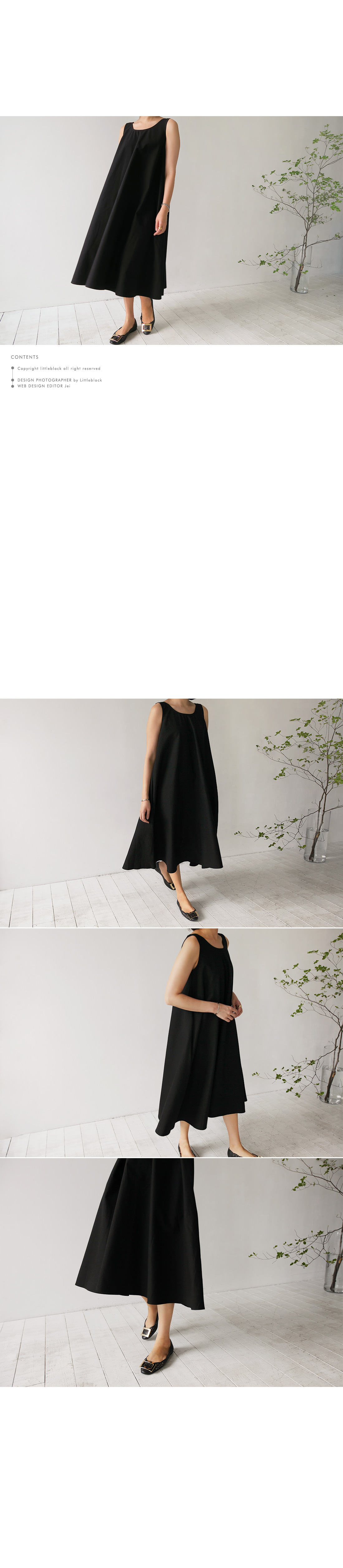 Scoop Neck Sleeveless Tent Dress|