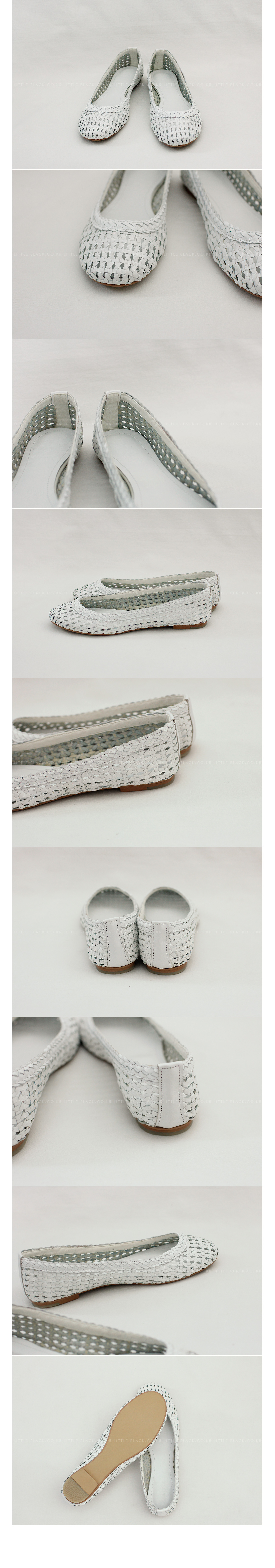 Woven Leather Flats|