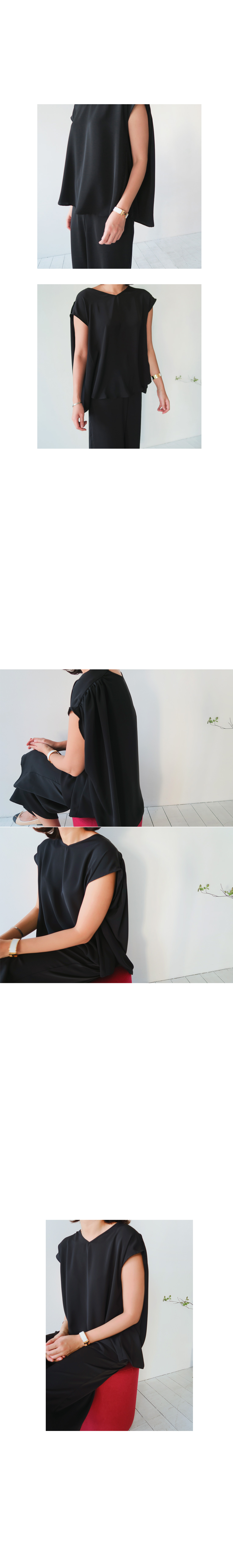 Loose Fit Cap Sleeve Top|
