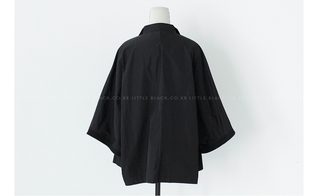 3/4 Sleeve Open Front Jacket|