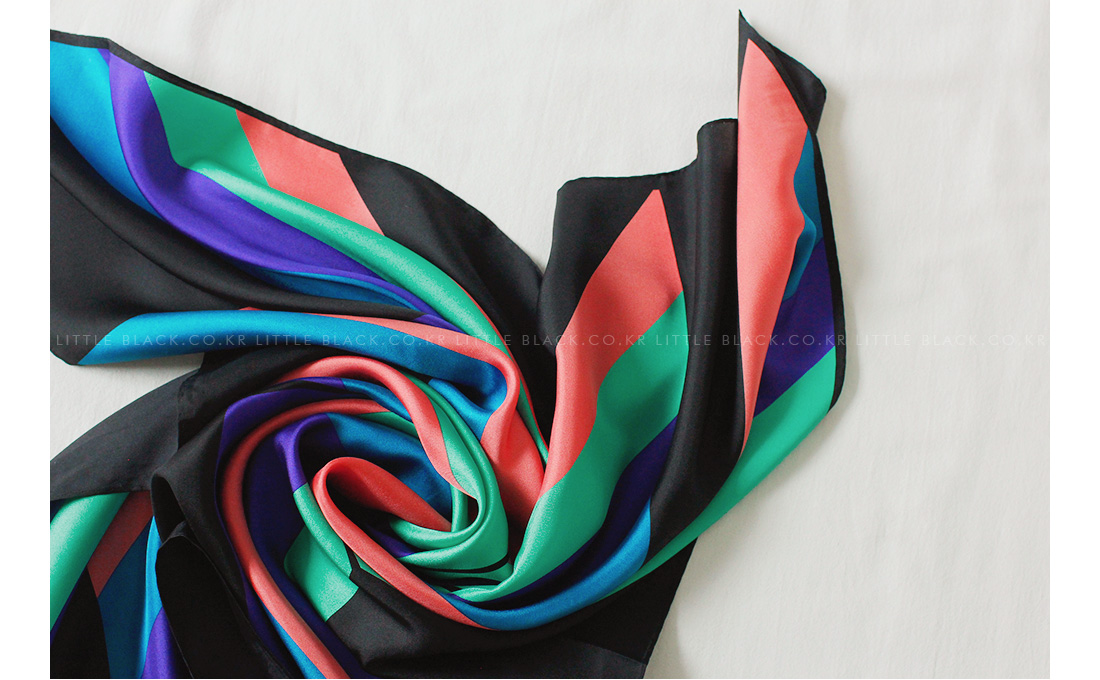 Multicolored Silk Scarf|