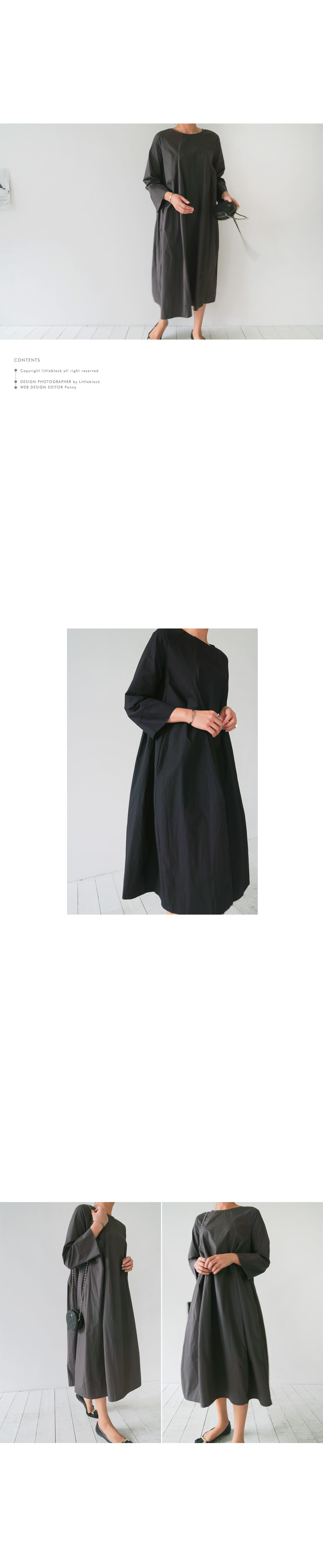 Pleated A-Line Shift Dress|