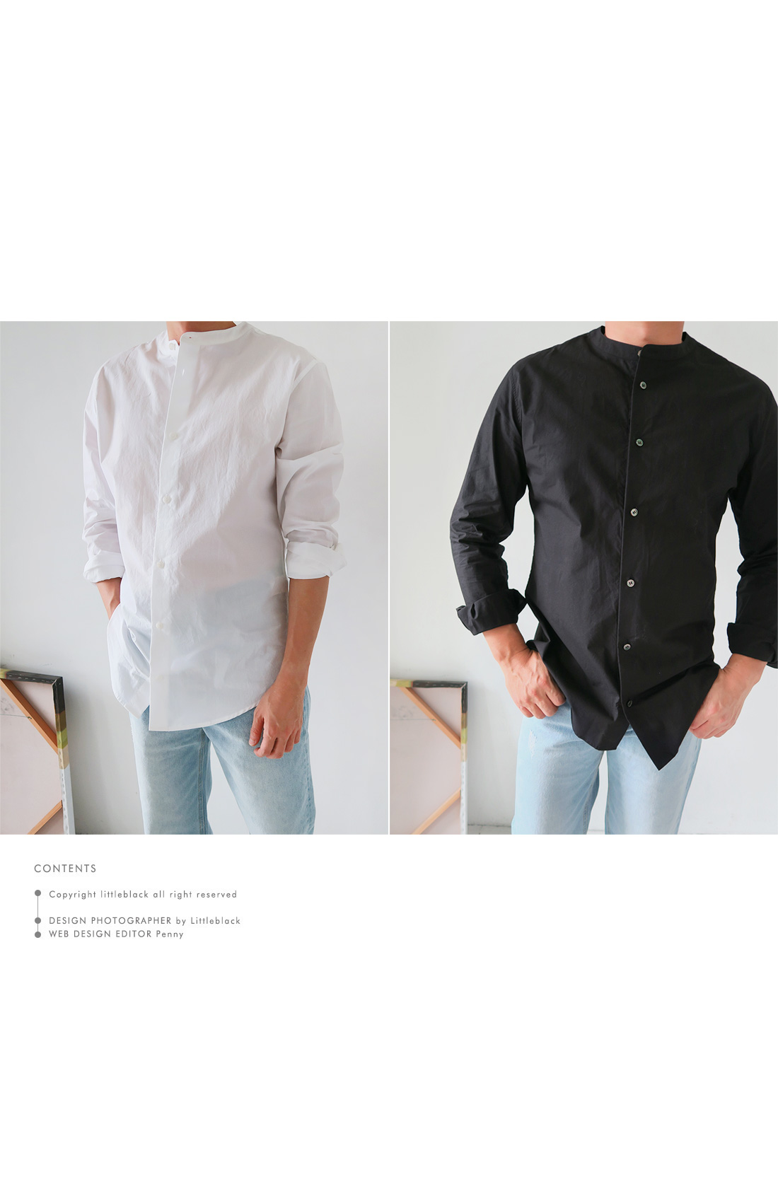 Men's Mandarin Collar Shirt|