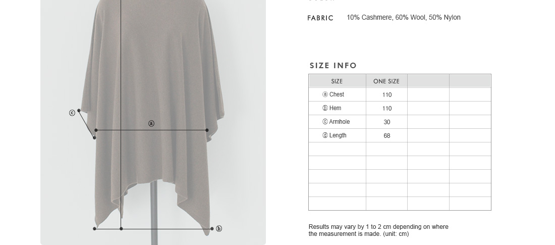 Loose Fit Cape|