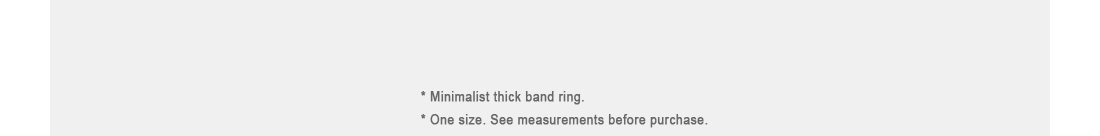 Thick Band Ring|