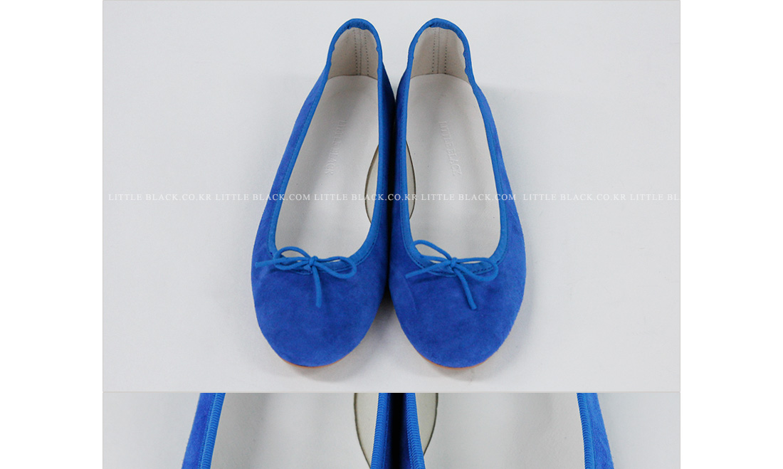 Bow Front Suede Flats|