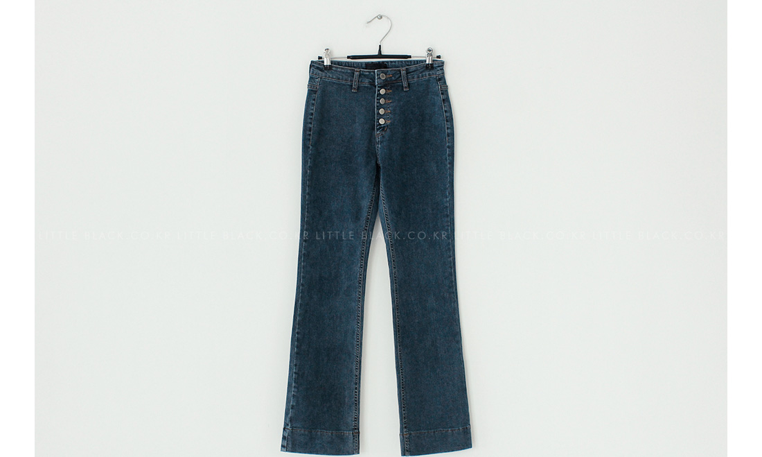 Button Fly Bootcut Jeans|