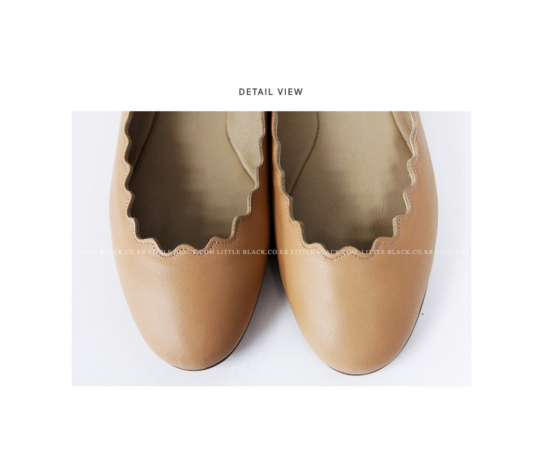 Scalloped Edge Flats|