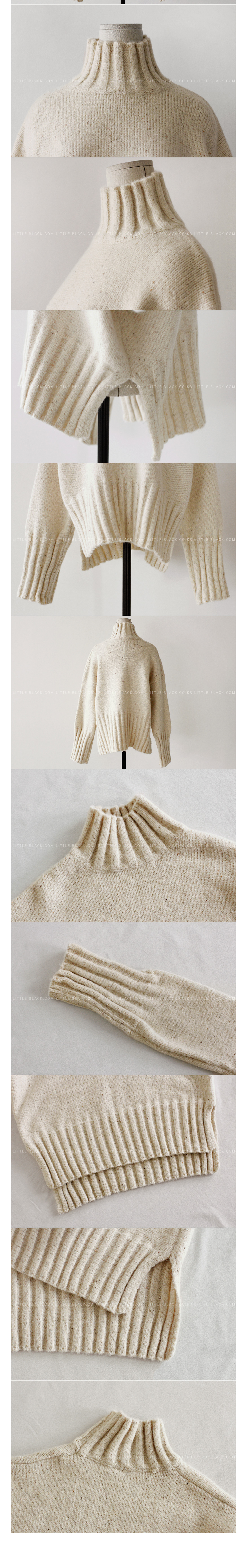 Rib Trim Knit Sweater|