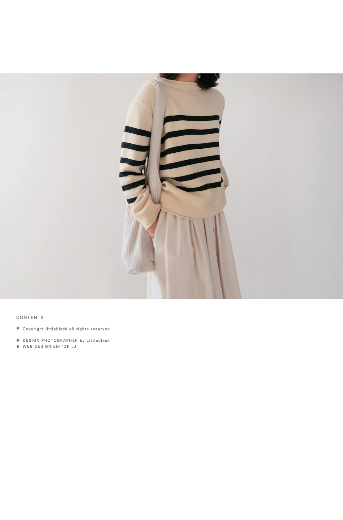 Rib Trim Striped Knit Top|