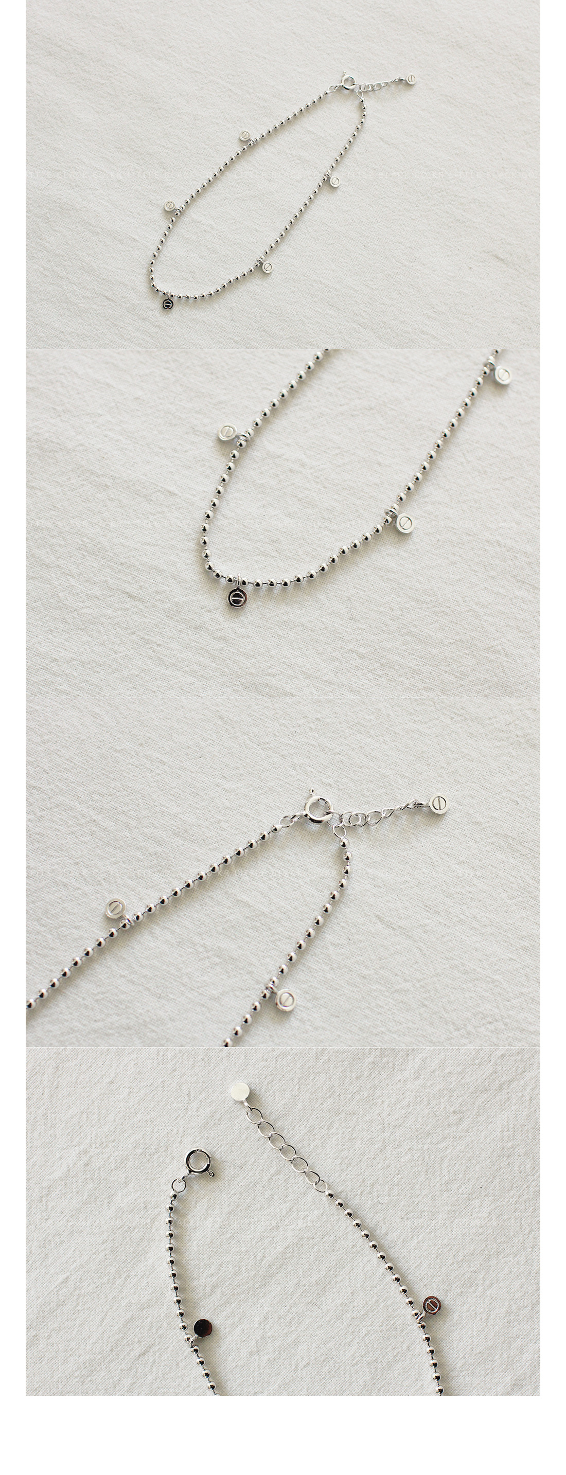 Bead Charm Anklet|