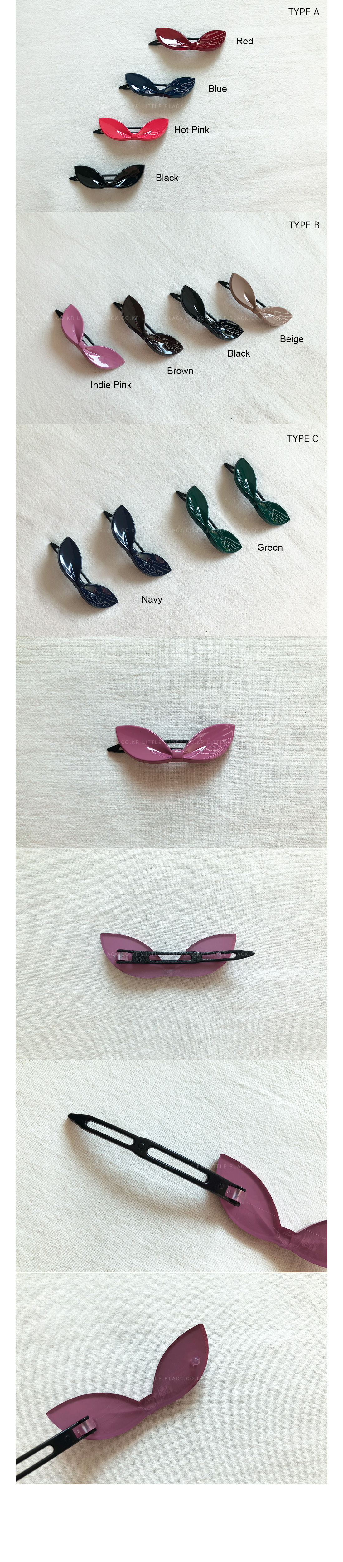 Bow Shaped Hair Clip (4-Piece Set)|
