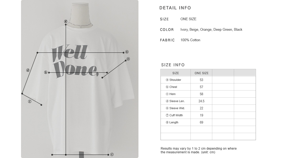 WELL DONE Graphic Print T-Shirt|