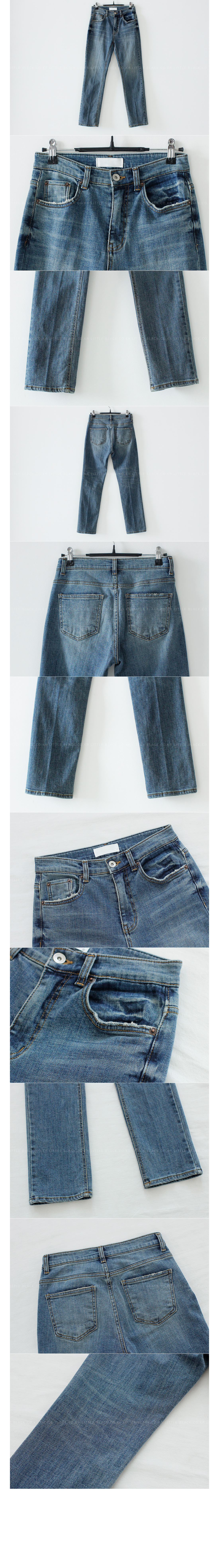 Straight Leg Mid Wash Jeans|
