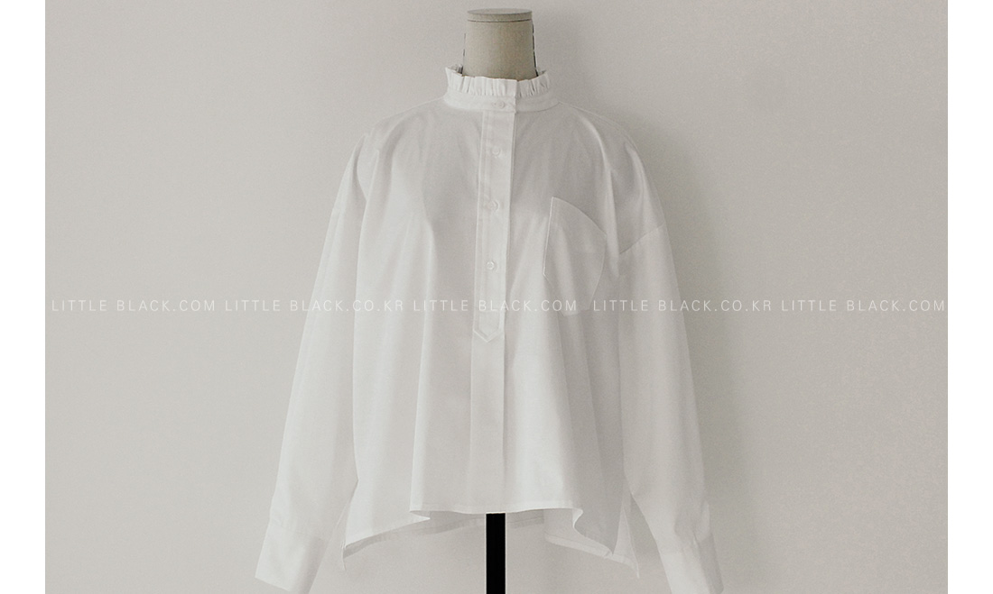 Frilled Collar Loose Fit Blouse|