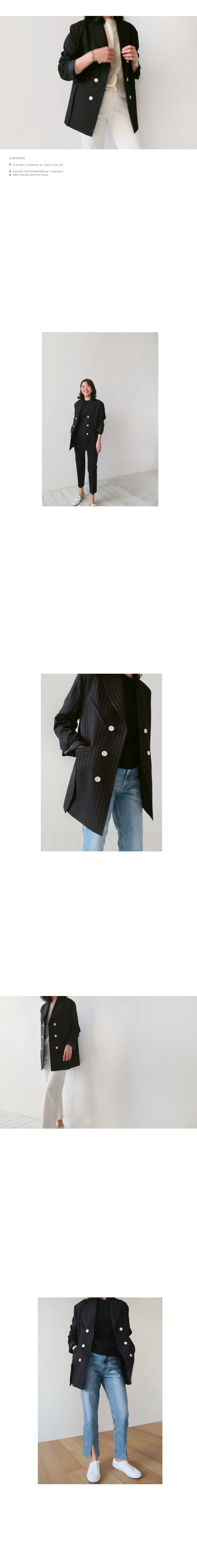 Double-Breasted Pinstripe Jacket|
