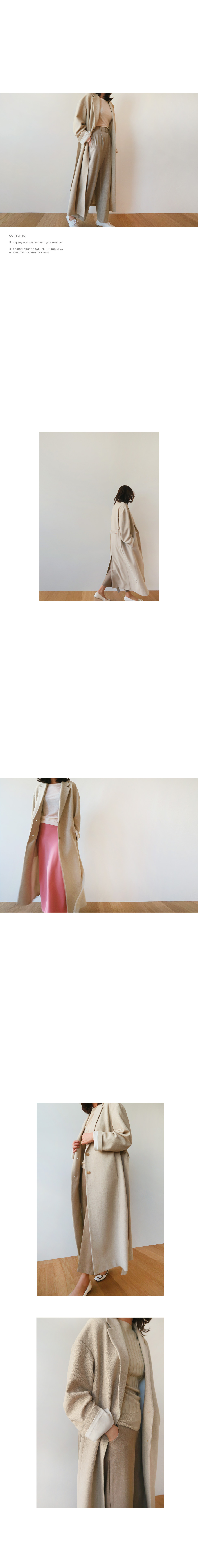 Tie-Waist Long Coat|