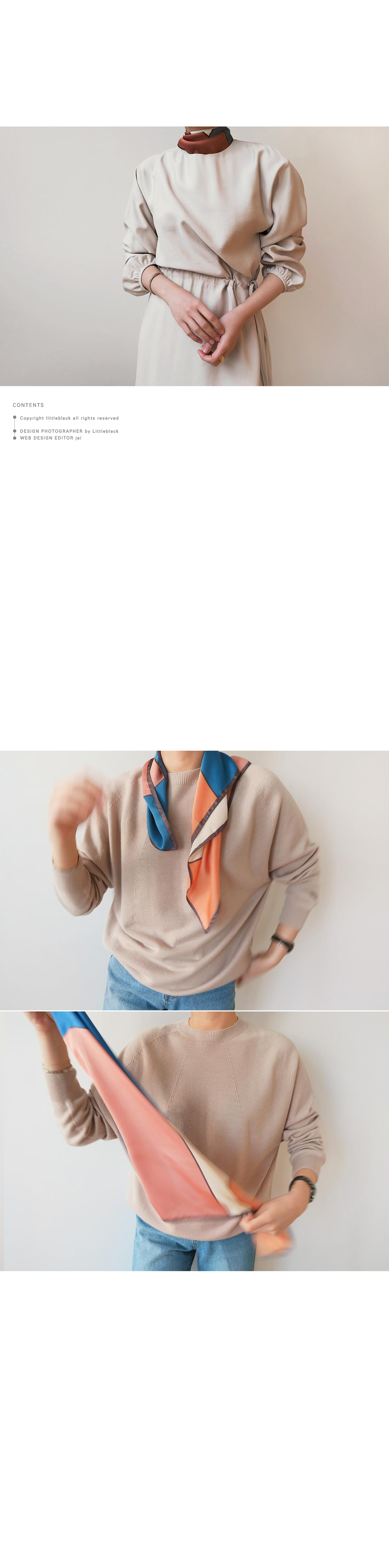 Color Block Scarf|