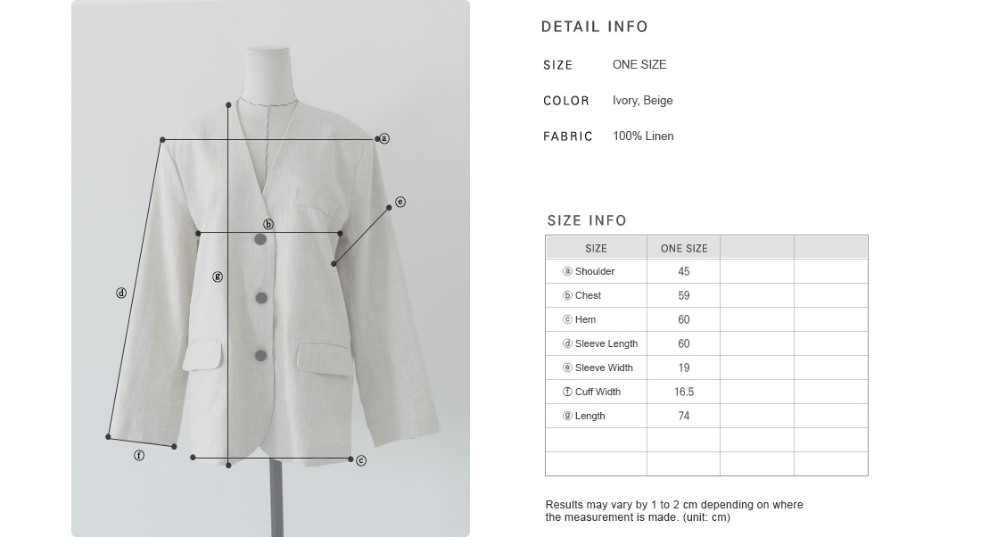 Collarless Linen Jacket|