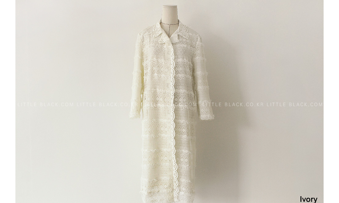 Fringed Lace Coat|