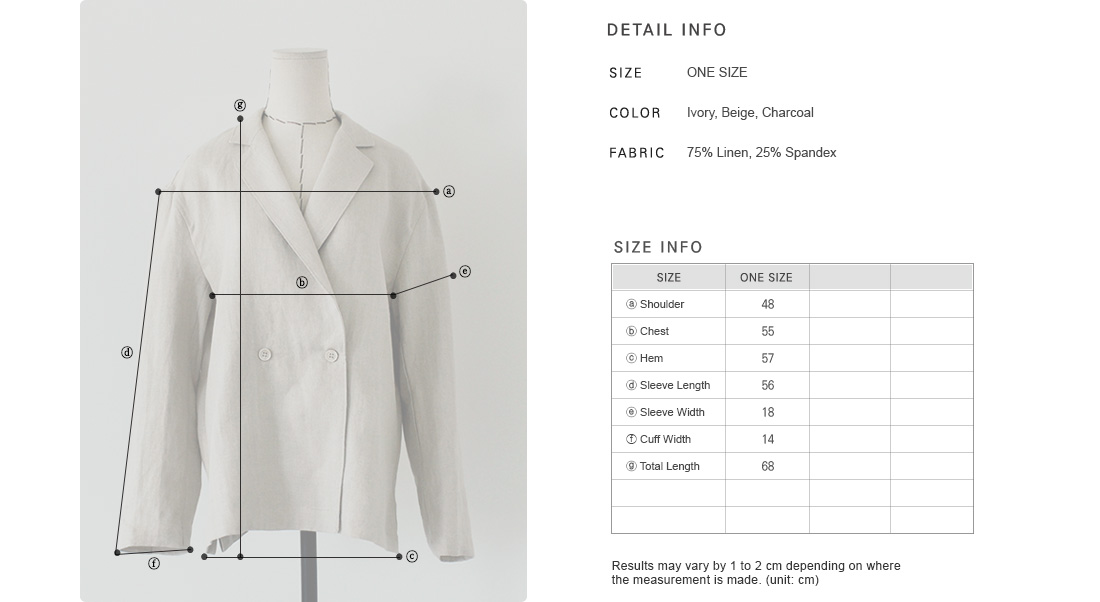 Double-Breasted Linen Blend Jacket|