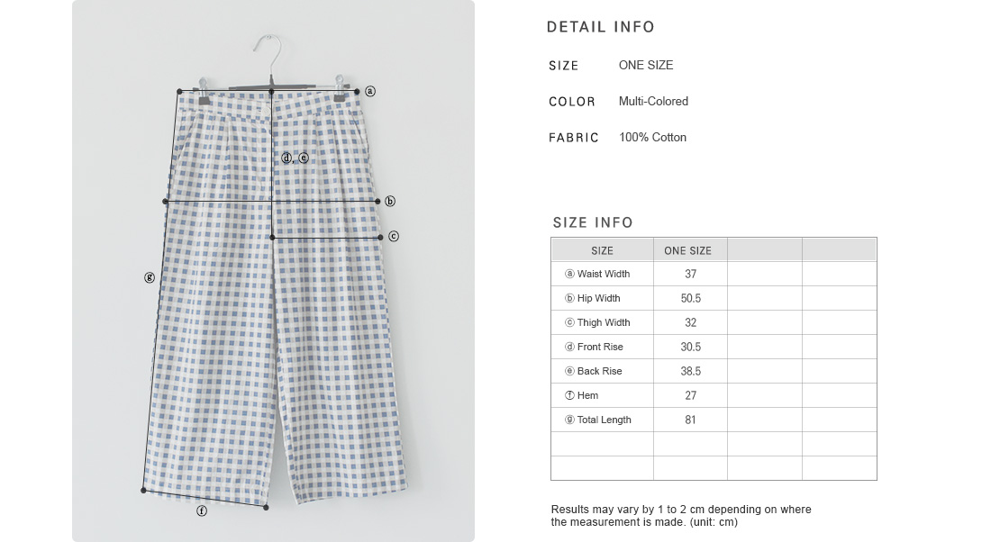 Check Pattern Wide Leg Crop Pants|