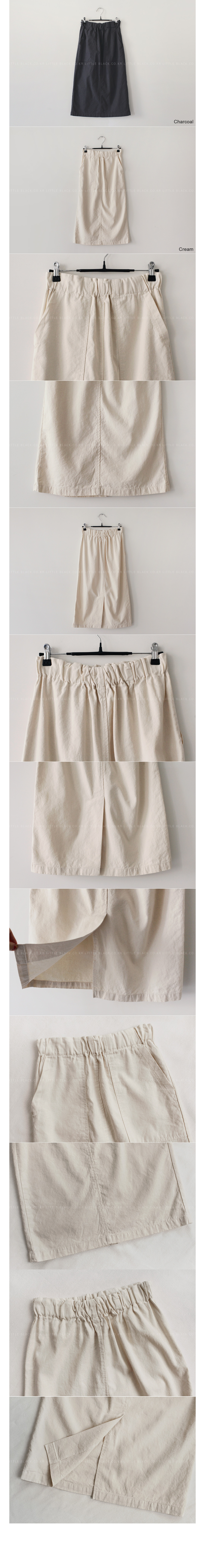 Patch Pocket Linen Blend Skirt|