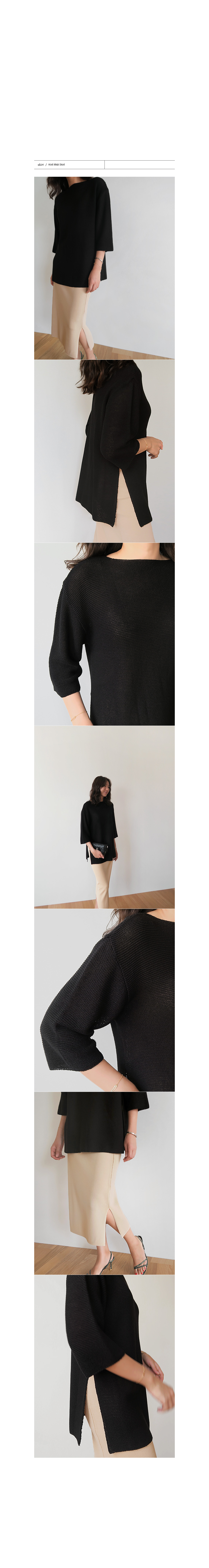 3/4 Sleeve Knit Top|