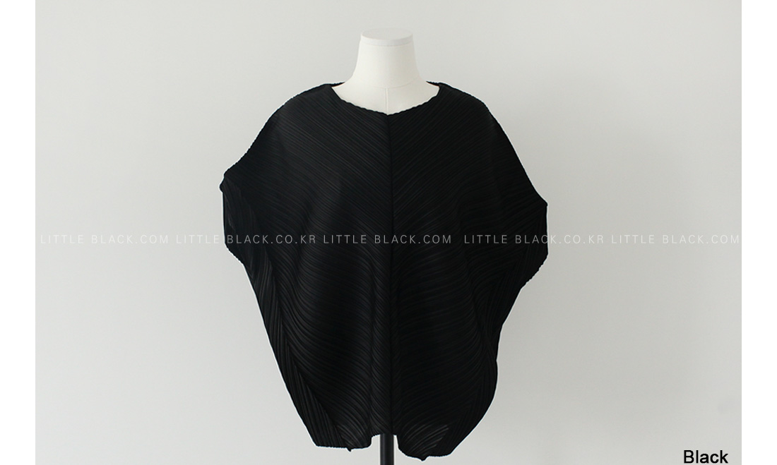 Crystal Pleated Batwing Top|