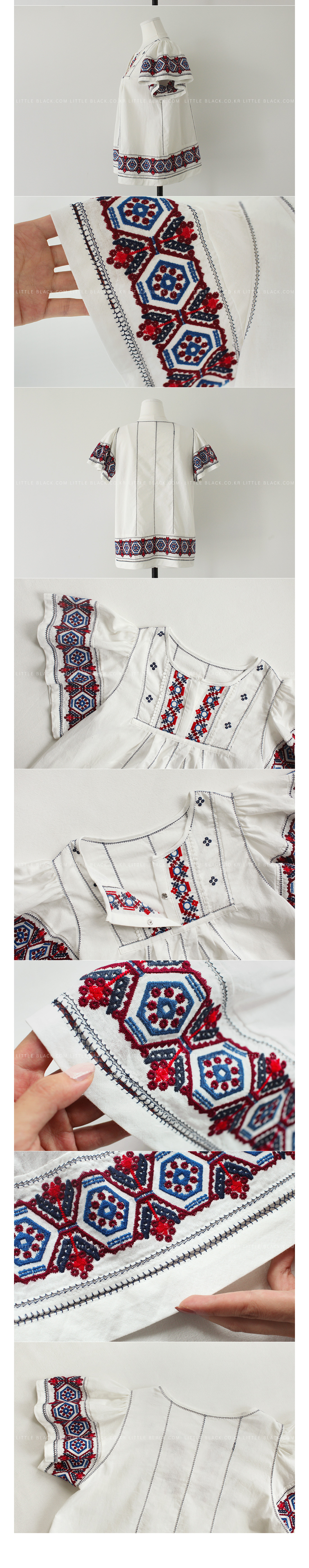 Boho Embroidery Pullover Blouse|