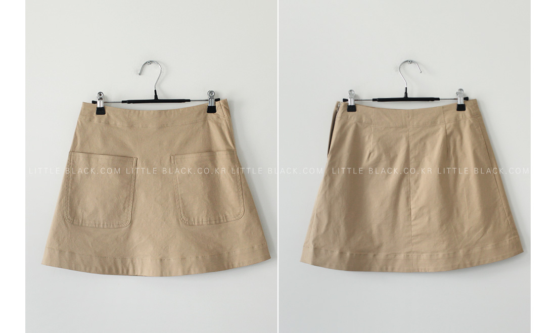 Patch Pocket Mini Skirt|