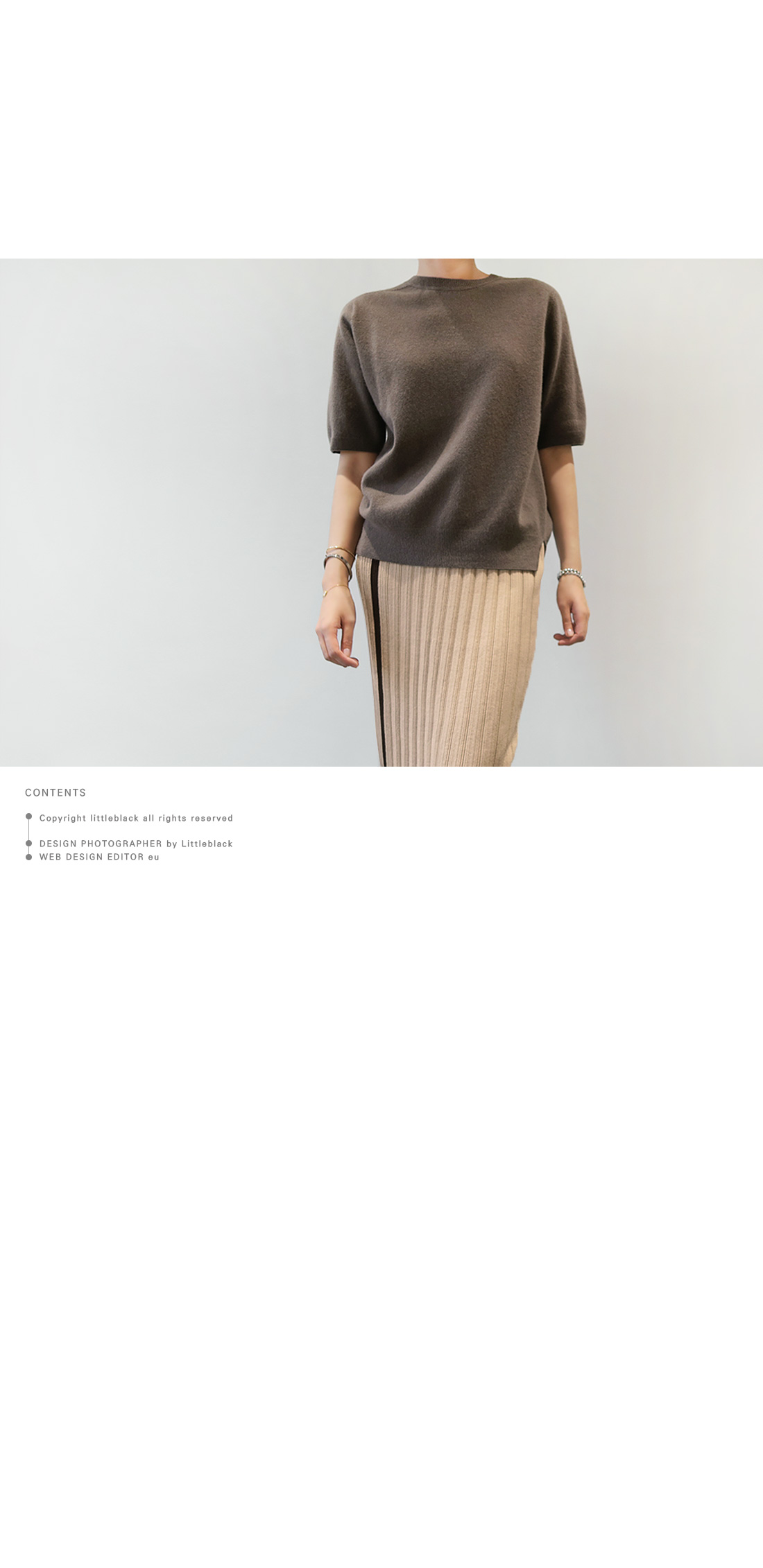 Short-Sleeved Knit Top|